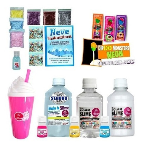 Kit Completo Para Fazer Slimes Frete Gratis
