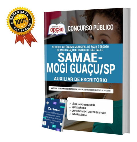 Apostila Auxiliar De Escritório Concurso Samae Mogi Guaçu Sp
