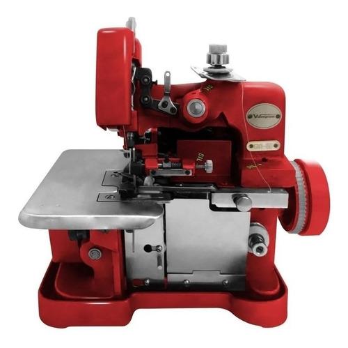 Máquina De Costura Semi Industrial Westpress Gn1-6d Portátil Vermelha 220v