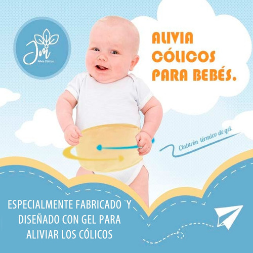 Alivio De Cólicos Para Bebés. Cinturón Unisex.