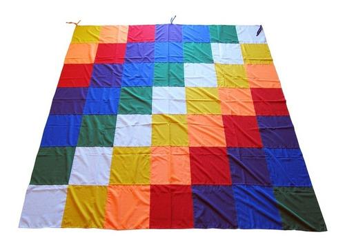 Bandera Wipala Pueblos Originarios 25x25cm Tejida Mamakolla