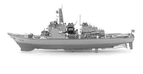 Rompecabezas 3d Metal Puzzle Barcos De Guerra