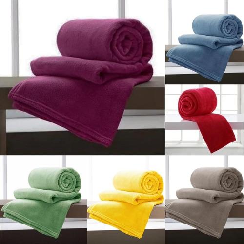 2 Cobertor Manta De Solteiro Microfibra  Promoção