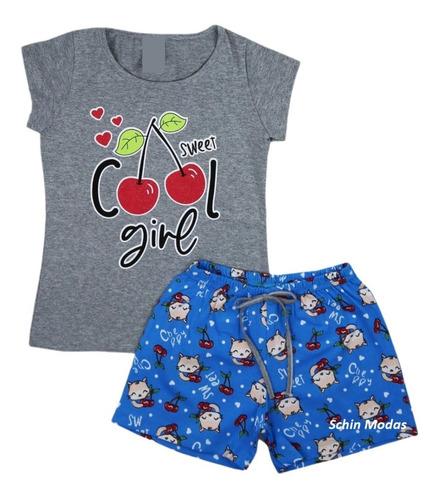 Kit 6 Conjuntos Infantil Menina Verão Roupa Criança