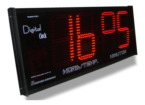 Reloj Digital Led Hora Y Temperatura Para Interiores