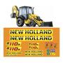 Kit Adesivos Retroescavadeira New Holland B110b etiqueta Mk