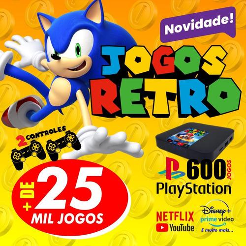 Vídeo Game Retro Tv Box 25 Mil Jogos Clássicos Antigos Novo