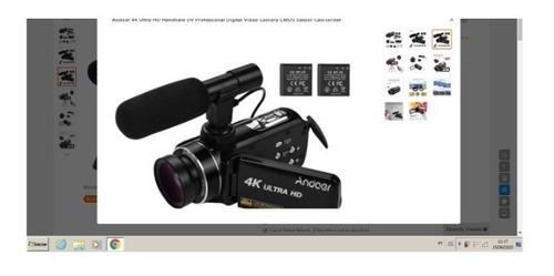Camera Digital, endoer Semi Profiss, 4k, microfone, 2 Bateria