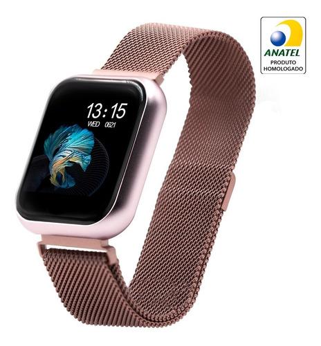 Relógio Smart Watch T80 C/ Duas Pulseiras Batimento Cardíaco