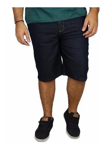 Bermuda Jeans Masculina Plus Size Tamanho Grande C/ Lycra