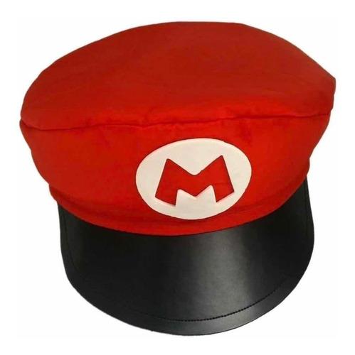 1 Quepe Do Mario Infantil + Brinde( Bigode ) Chapeu / Boina