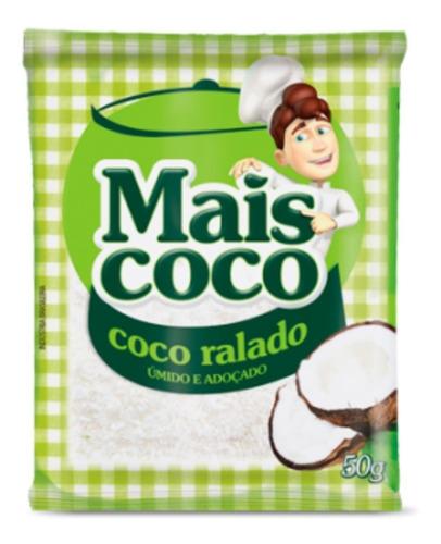 Coco Ralado Úmido E Adoçado - Mais Coco 50g