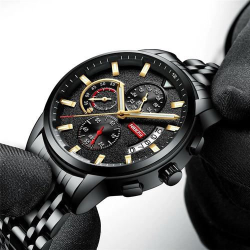 Relógio Nibosi 2368 Aço Inox Blindado À Prova D'água Oferta