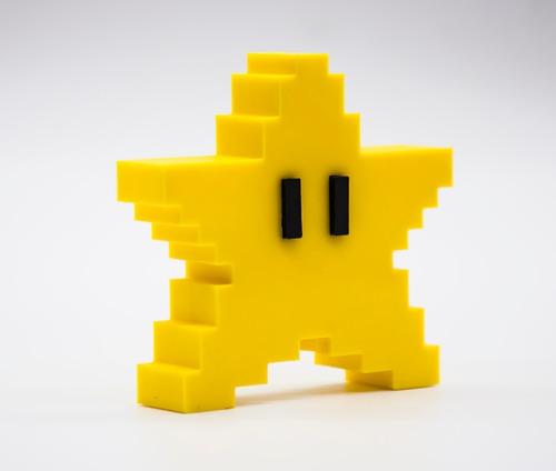 Super Mario Estrella - Pixel - Retro - Arbol De Navidad