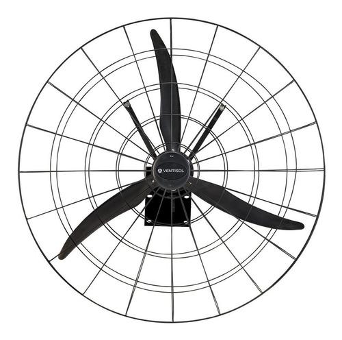 Ventilador De Parede Ventisol 1 Metro Preto Com 3 Pás De  Náilon Reforçado, 1m De Diâmetro 220v