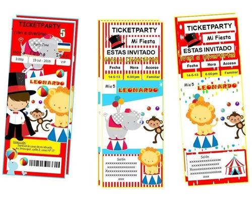 Kit Imprimible Circo Invitaciones Candybar Nuevo 2x1