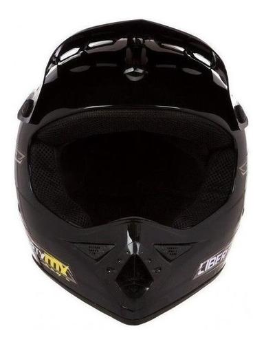 Capacete Para Moto  Off Road Pro Tork Liberty  Mx Pro  Preto Solid Tamanho 60