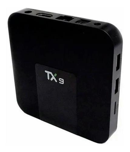 Tv Box Tx9 Padrão 4k 64gb Preto Com Memória 8 Gb Ram