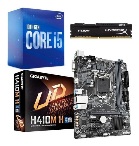 Kit Intel 10 Geração I5 10400f Gigabyte H410m-h 8gb 2666mhz