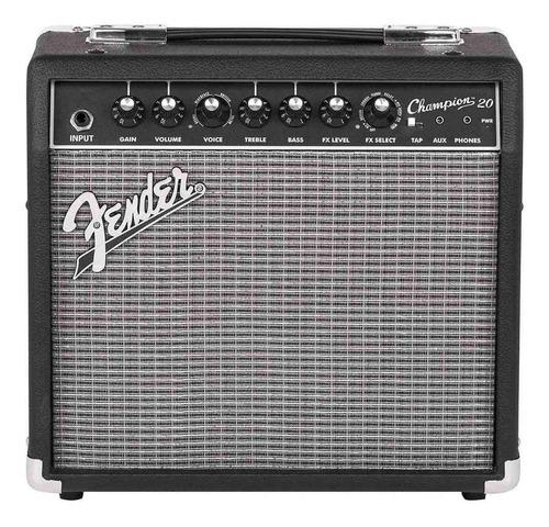 Amplificador Fender Champion Series 20 Combo Valvular 20w Negro Y Plata 220v