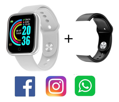 Relogio Smartwatch Inteligente Bluetooth Android Ios Brinde