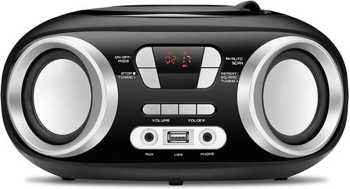 Rádio Boombox Mondial Rádio Fm 6w Rms Nbx-13 Preto - Bivolt