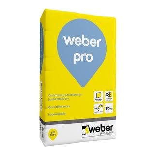 Pegamento Cerámicas Porcellanato Pro Weber 30 K Int Ext Mm