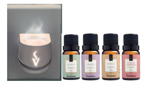 Kit Difusor De Led Essências De Vanilla, Bamboo E Outros