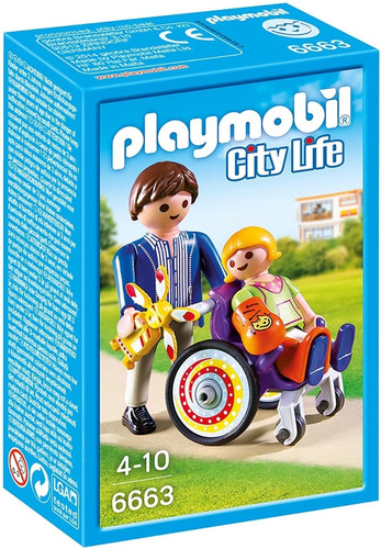Playmobil City Life 6663 - Niño En Silla De Ruedas