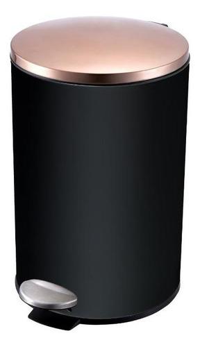 Lixeira Aço Inox Preta 12 Litros R2d Travel Max