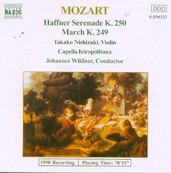 Cd Mozart T. Nishizaki Capel - Haffner Serenade K Original