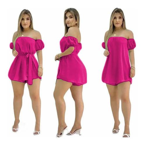 Macaquinho Feminino Vestido Ciganinha Soltinho Blogueira