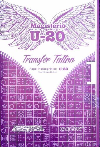 Papel Transfer (hectográfico) Tattoo Tatuagem - Caixa 100 Un