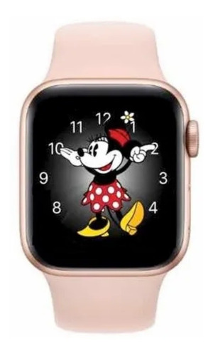 Relógio Smartwatch Iwo 12 Ld5 Rose Feminino Original Minnie
