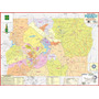 Mapa Geo Político Gigante Do Distrito Federal 120 X 90 Cm
