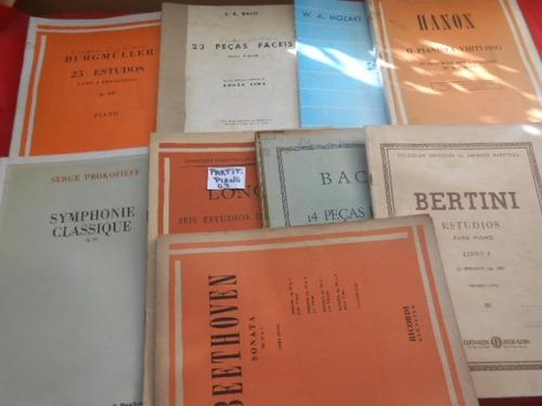 Partituras Para Piano Lote Com 9 Raridade Único no site Barato Original