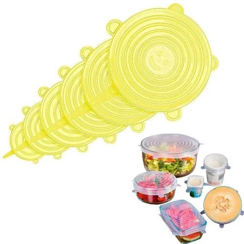 Tapas Silicona Multiusos - Cocina Alimentos Recipientes X 6