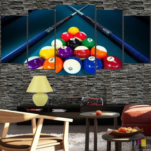 Quadros Decorativo 128x60 Jogo De Sinuca Promoção Lindo N3