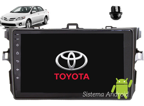 Central Multimidia Android Corolla 2009 A 2014 Gps Bt 9pol