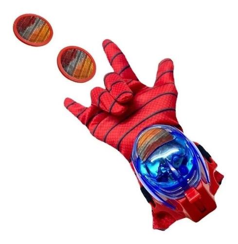 Luva Lança Discos Heróis Vingadores Brinquedo C/ Som E Luzes