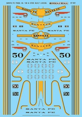 Ca- Calco Al Agua - M. Decals - 87-831 -.santa Fe Dl-109 & E