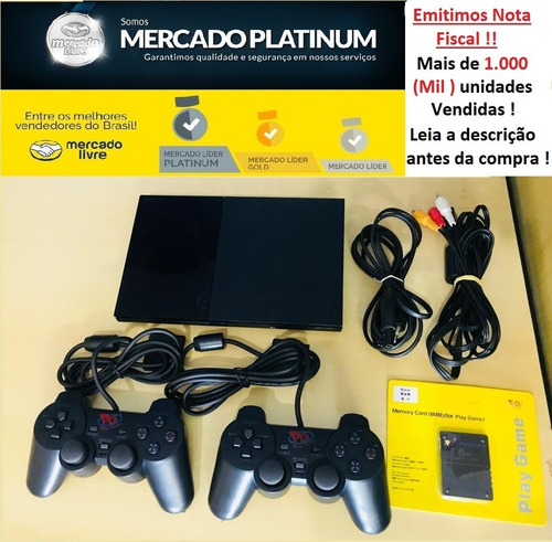 Playstation 2 + 2 Controle + 1 Memory Card + Brinde