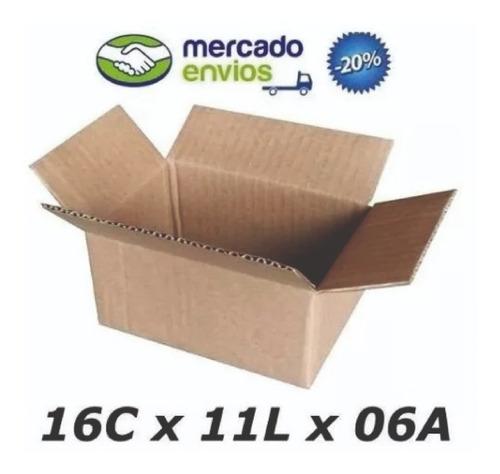 50 Caixas De Papelão 16x11x6  Correio Menor Preço Fabricante