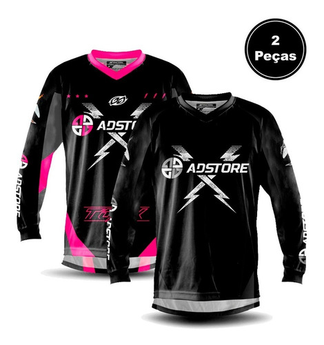 Combo 2 Camisa Blusa Feminina Masculina Trilha Bike Pro Tork