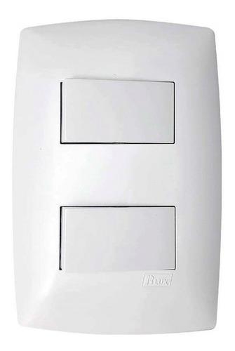 Conjunto Interruptor 2 Teclas Simples Separadas Home Blux
