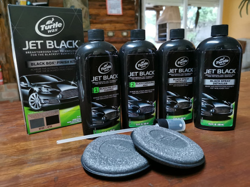 Cera Automotiva Kit Turtle Wax Jet Black Box Preto Original
