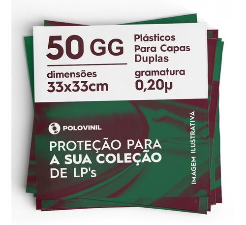 50 Plastico Externo Capa Gatefold Dupla Lp Importado 33 0.20