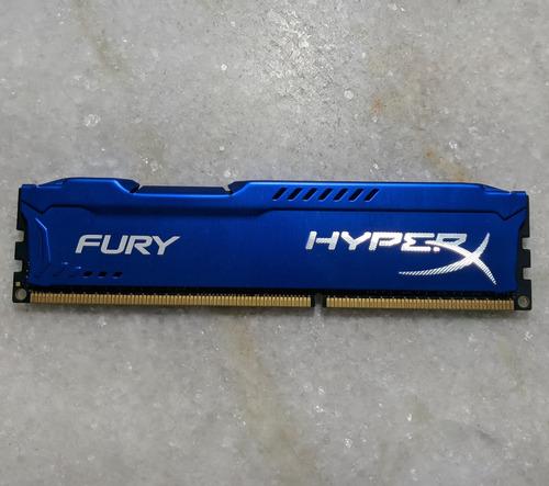 Memória Hyperx Fury, 8gb, 1600mhz, Ddr3, Cl10, Azul
