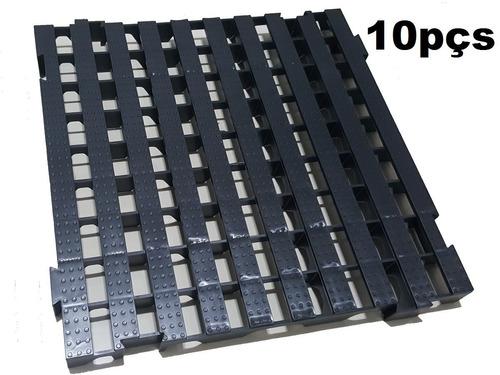 10pcs Palete Estrado Plástico/ Pallet Plástico 50x50 X 4,5cm