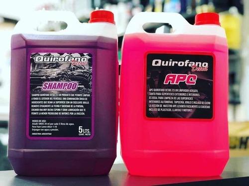Kit Apc Y Shampoo Quirofano Detail Alto Rendimiento 5lts C/u